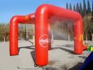 Arco de Meta Hinchable Publicitario :: Con Unidad de Nebulización