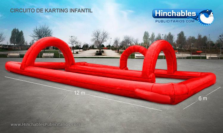 Circuito de Karting Hinchable Infantil