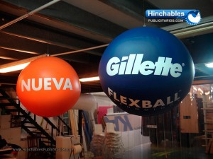 Esferas Hinchables Gillette Nueva