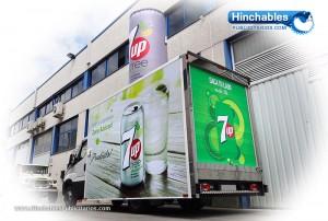 Rotulacion de Vehiculos - Lata Hinchables 7Up free