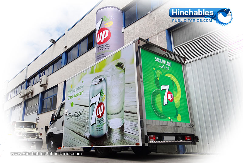 Rotulacion de Vehiculos - Lata Hinchables 7Up free