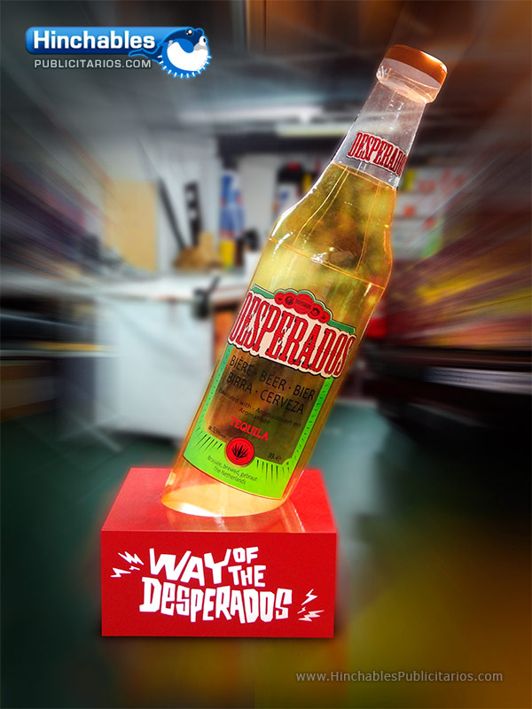 Botella Hinchable con Base Luminosa Desperados