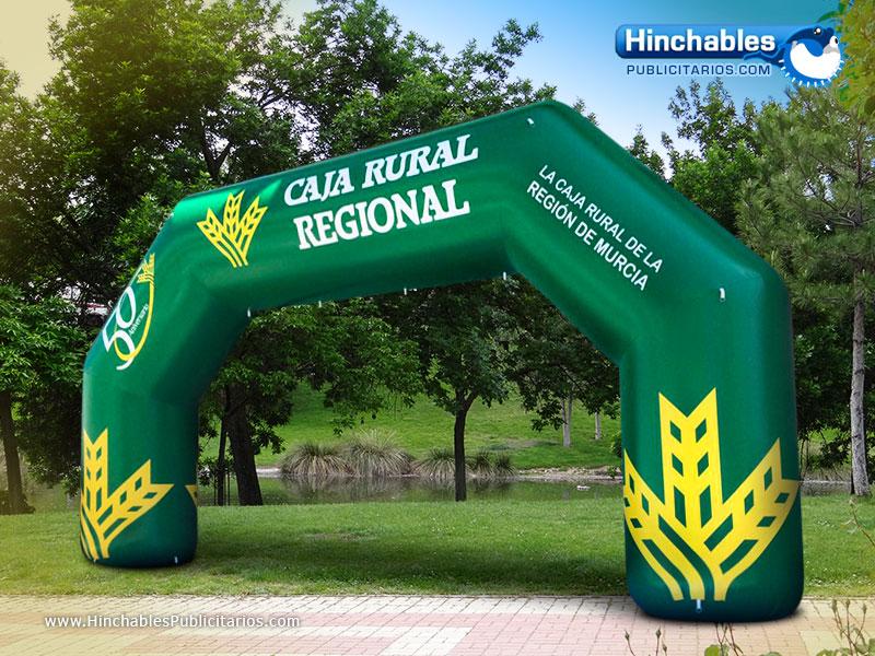 Arco de Meta Hinchable Caja Rural