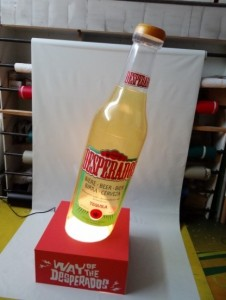 botella hinchable desperado