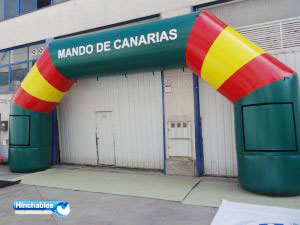 Arco hinchable mando de canarias