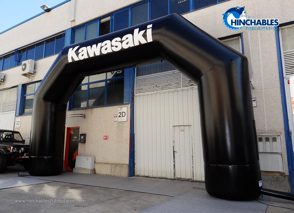 Arco de Meta Hinchable Kawasaki