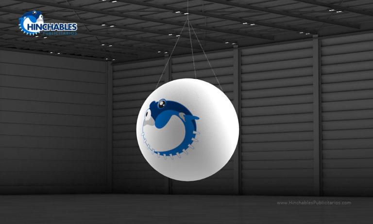 Visual 3D Esfera Hinchable Isotipo