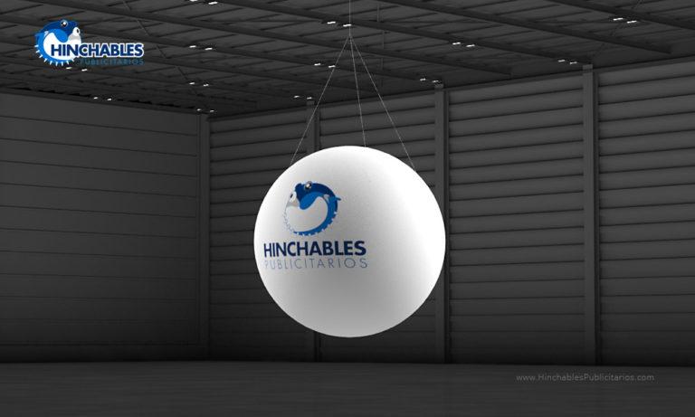 Visual 3D Esfera Hinchable Logo